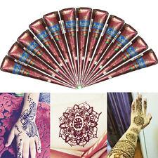 Natural Herbal Brown Henna Cones Temporary Tattoo Body Art Paint Mehandi ink