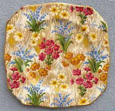 Royal Winton Marguerite Floral Chintz Square Bread Plate