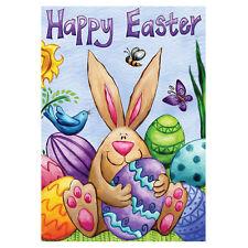 "12X18"" Happy Easter Rabbit Egg Butterfly Birds Mini-Garden Mailbox Flag Newest"