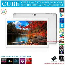 "Cubo T10 4G LTE GPS OCTA CORE 32GB 10.1"" Retina 6.0 Tablet PC Android Phone"