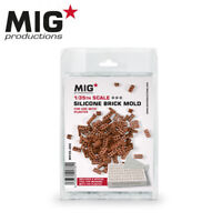 MIG Productions 1/35 Silicone Brick Molds for Plaster