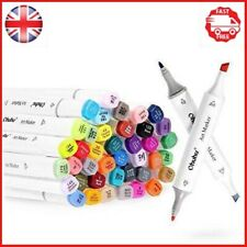 Ohuhu 40 Colors Dual Tips Permanent Marker Pens Art Markers for Kids, Pen with
