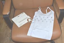 tee shirt neuf debardeur lulu castagnette 4/5 ans blanc etoiles argent