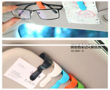 2pcs/set Car Interior Sun Visor PVC Clip Holder For Card Sunglasses Pens Random
