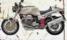 MotoGuzzi V11Sport 2000 Aged Vintage SIGN A3 LARGE Retro