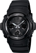 BRAND NEW CASIO G-SHOCK AWGM100B-1A BLACK ATOMIC SOLAR ANA-DIGI MENS WATCH NWT!!