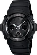 BRAND NEW CASIO G-SHOCK AWGM100B-1A BLACK ATOMIC SOLAR ANA-DIGI MENS WATCH NWT!!