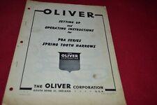 Oliver PBA Spring Tooth Harrow Operator's Manual PBPA