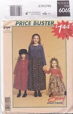 McCalls 8909 Girls size 7-14 Modesty Dresses Skirts Sewing Pattern UNCUT