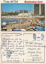 1992 BEACH PROMENADE BENALMADENA COSTA DEL SOL SPAIN COLOUR POSTCARD