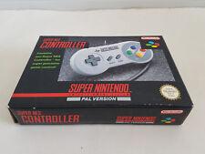 Super Nintendo SNES – GENUINE/ORIGINAL CONTROLLER COMPLETE & IN BOX  *MINT COND*