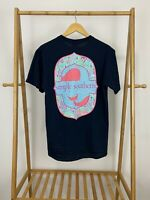 NWT Simply Southern Women's Whale Logo Short Sleeve T-Shirt Size M