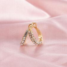 Pretty 925 Silver,Gold,Rose Gold Hoop Earrings for Women Cubic Zirconia Jewelry
