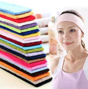 HOT Cotton Elastic Sweatband Headband Yoga Gym Stretch Hairband Wide Sport