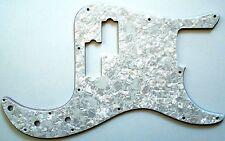 NEW PICKGUARD Precision Bass white pearl pour Fender ou autre PBass