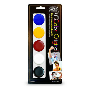 Mehron 5 Color Palette Oil Based Cream Makeup Original #405 1.25oz