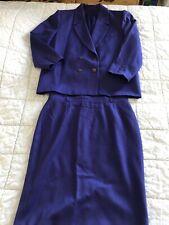 Magnifique Elégant Tailleur UN JOUR AILLEURS Violet Taille  48