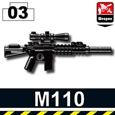 SASS (W179) M110 Special Forces sniper rifle compatible with toy brick minifig