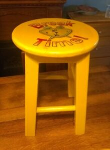 """Covelli.Wood Craft """"Break Time"""" Child's Wooden Stool ~ Made in Surprise, Arizona"""