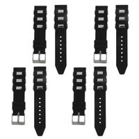20mm-26mm Mens Silicone Watch Band Sport Diver Rubber Strap Replacement Belt