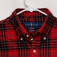 Ralph Lauren Blue Label Mens Shirt Multicolor Plaid Medium