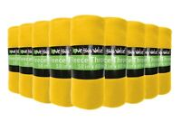 12 Pack Wholesale Soft Warm Fleece Blanket or Throw Blanket 50 x 60 Inch Yellow