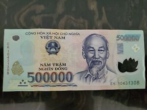 500,000 VIETNAMESE DONG CURRENCY - CIRCULATED BANKNOTE