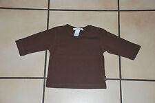 Bébé T-shirt H&M brun manches longues T62cm ou 2-4 mois à 1,00€ Très Bon Etat!