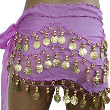 Bauchtanz Hüfttuch Münztuch Münzgürtel Belly Dance Gürtel Samba Viele Farben