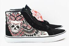Vans SK8 Hi Reissue Slim Mens Size 7.5 Stormy Bird Skate Shoes Black