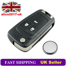For Vauxhall Opel Insignia Astra 3 Button Remote Key Case Service Kit + Battery