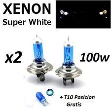 Lamparas H7 100w/12v, halogenas, luz blanca, caja original, + T10 de regalo