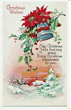 Christmas Wishes Hollie Bells Snow White Border Post Card
