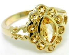 2.70ct Citrine 9ct 375 Solid Gold Antique Style Ring - Sz N/7.0, 30 Day Returns
