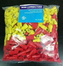 500 pc P11 Yellow P13 Red Mixed Winged Nut Screw On Wire Connectors Twist-On lot
