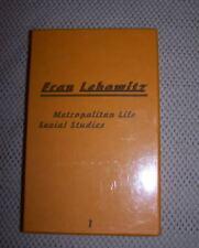 FRAN LEBOWITZ KARL LAGERFELD METROPOLITAN LIFE SOCIAL STUDIES ED. 7L