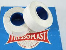 Tressoplast handlebar tape Cloth pair of White 2 rolls Vintage Bicycle NOS