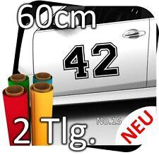 2x 60cm numéro libre au choix Numéro de départ rallye des autocollants start numéros No. 21
