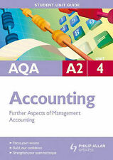 AQA A2 Accounting: Unit 4: Further Aspects of Management Accounting-ExLibrary