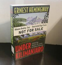 Ernest Hemingway Under Kilimanjaro Advance Reading Copy Scarce