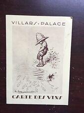 Villars, Switzerland Wine Menu 1945-1946