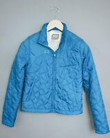 XII651 Women Helly Hansen Blue Padded Zippered Outdoor  Jacket Size XS UK8