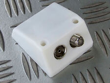 """TV AERIAL & SATELLITE """"F"""" OUTLET SOCKET BOX SURFACE MOUNT COAXIAL FEMALE"""