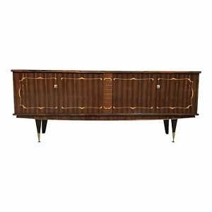 1940s Long French Art Deco Exotic Macassar Ebony Buffet/Sideboard / Credenzas.