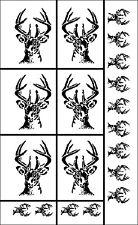 Armour RUB N ETCH Glass Etching Stencil Sheet ~ Deer Buck WhiteTailed