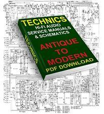 TECHNICS SERVICE MANUALS & SCHEMATICS ANTIQUE TO MODERN DOWNLOAD