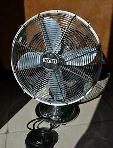 Cinni Vintage ventilateur année 50 60 Chrome Bombay Design ø 35 cm