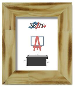 """US ART Frames Textured Distressed Country Oak 2.75"""" Solid Wood Picture Lots S/A"""