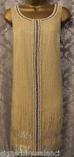 All Saints Araminta Fringe Charleston Flapper Gatsby Art Deco Dress 8 10 12 14