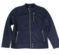 INC Men's Jacket Blue Size Large L Quilted Full-Zip Bomber Fleece $79 056